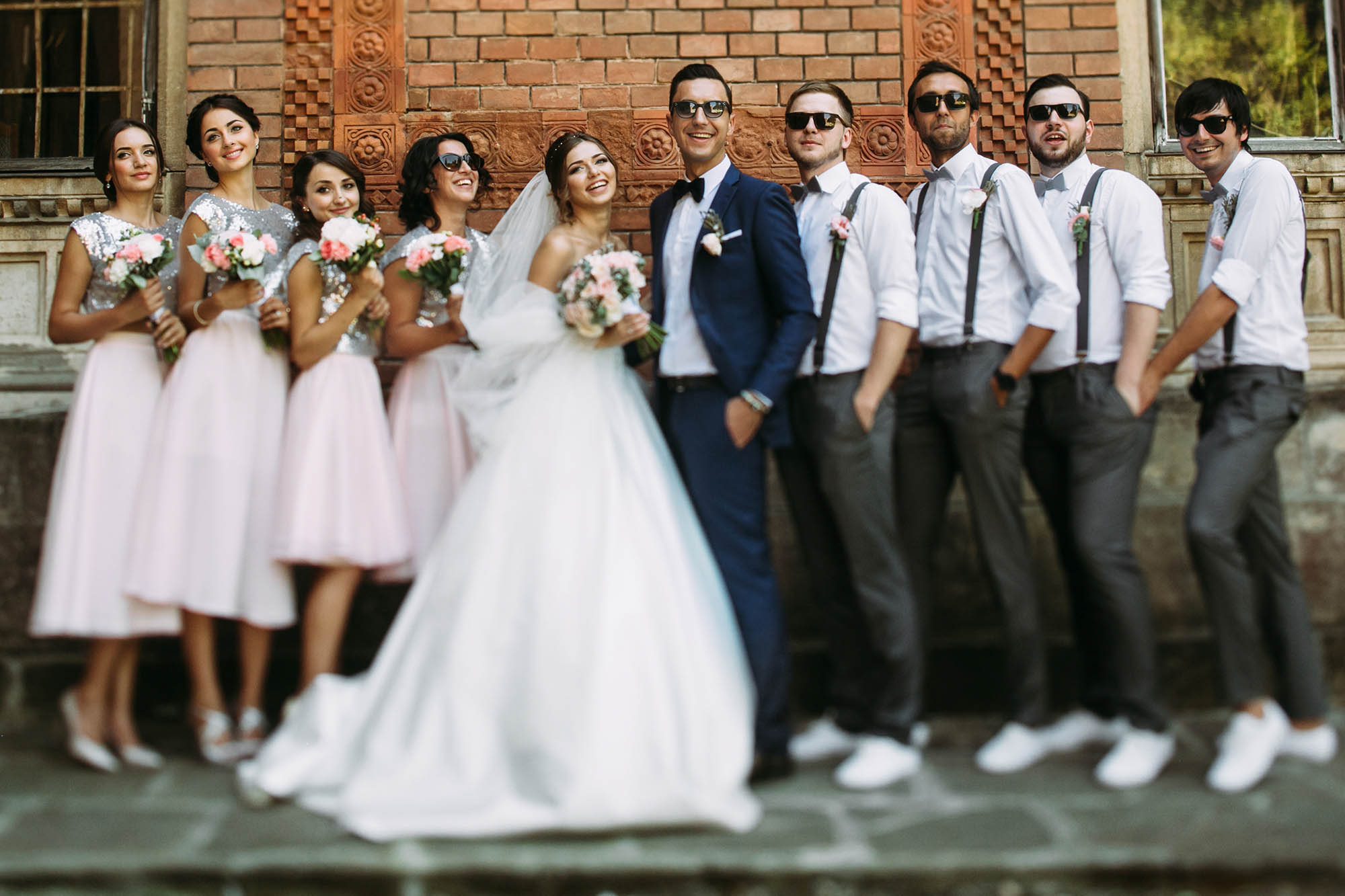 Special photo of the couple with the friends